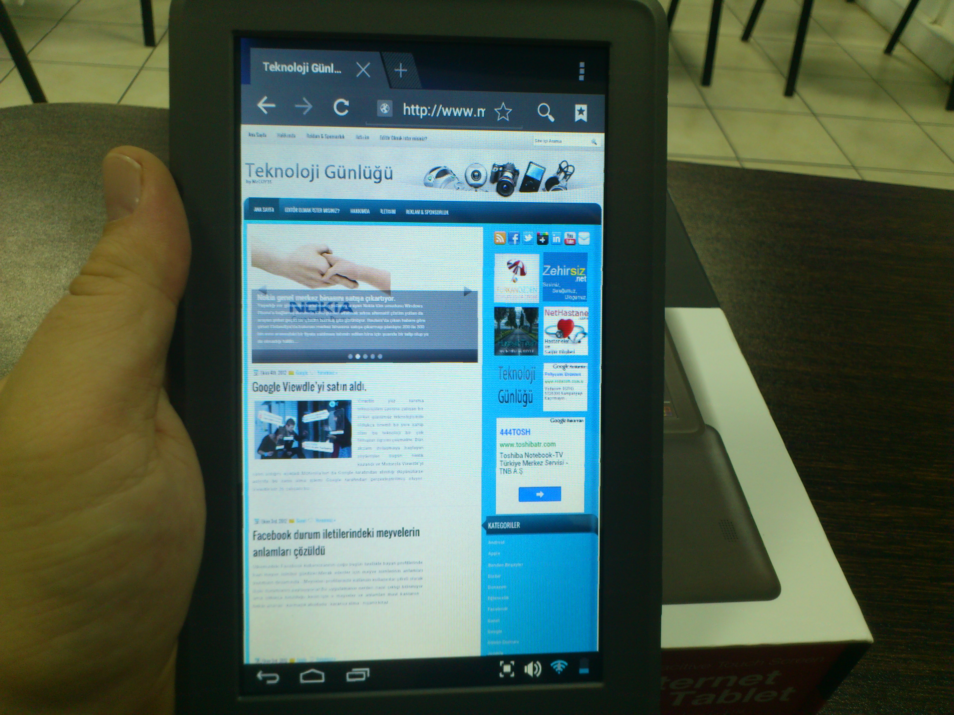 Q-NOTE internet tablet inceleme