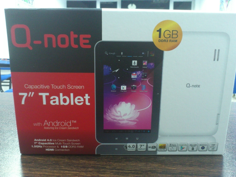 white q note qn 7000hx 7 tablet for our